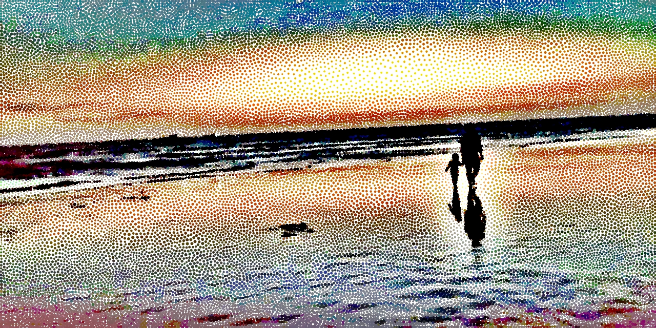 beautiful painting of beach